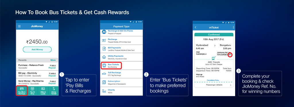 Bus Tickets on JioMoney