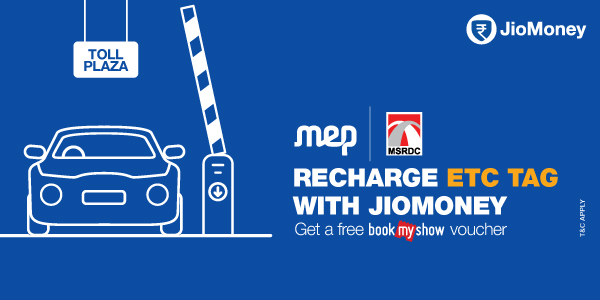 Recharge ETC Tag and get a BookMyShow Voucher